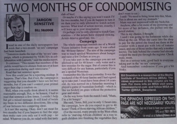 #38_Two months of condomising_10 Sept 2014